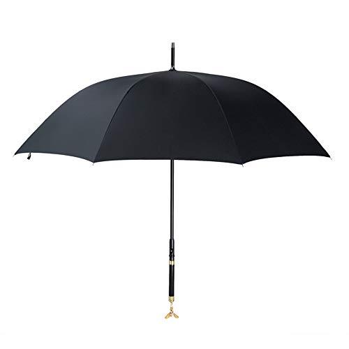 Exquisite Multifunktions-Doppel Regenschirm Langer Griff/Gerader Schaft Kreative Geschenke/Vorzügliche Qualität (Farbe : Gold)