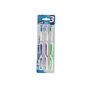 DECTRA PHARM – Lot de 3 Brosses à Dents Médium Pro White Brush