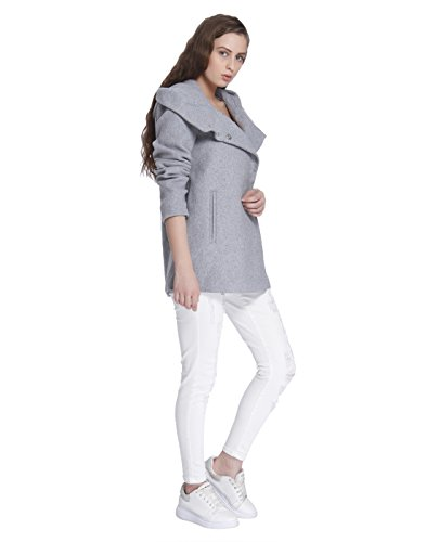 Vero Moda Vmcollar Wool Jacket Noos, Giubbotto Donna Grigio (Light Grey Melange Light Grey Melange)
