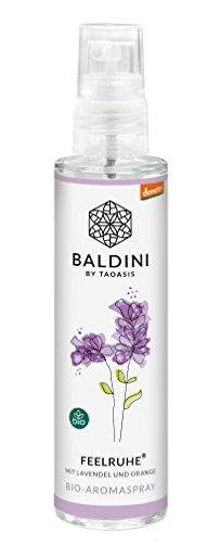 Baldini - Feelruhe BIO-Raumspray aus 100{c9e59785bb3abd19d1efbb6ebdec384deb201e8fd9210dac674f2a1a3efd5f0c} naturreinen Rohstoffen, demeter, 50 ml