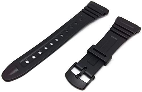 Casio 10076822-Cinturino per orologio in resina, colore:nero
