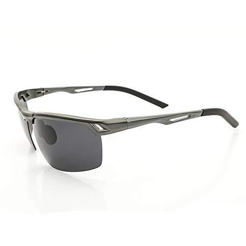 Männer Fahren polarisierte Sonnenbrillen im Freien Sport Eyewear UV400 Schutz für HD blendfreie Sonnenbrillen Brille (Farbe : Gun Gray Box Gray Lens, Größe : Free)