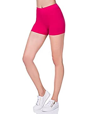FUTURO FASHION Supermorbido Shorts di cotone elasticizzato YOGA SLIP UK 8-22 psl5