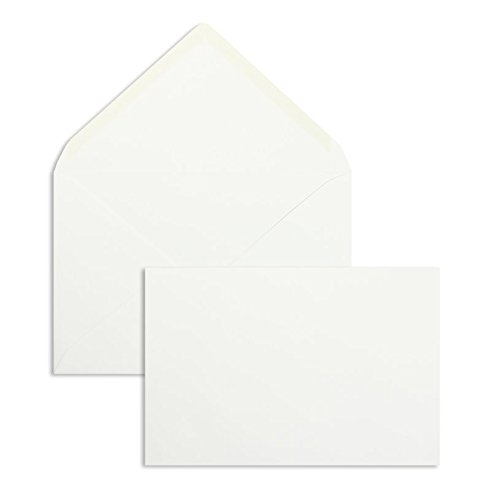 Briefhüllen | Premium | 125 x 185 mm Weiß (100 Stück) Nassklebung | Briefhüllen, Kuverts, Couverts, Umschläge mit 2 Jahren Zufriedenheitsgarantie