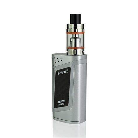 SMOK Alien Kit/RHA 220W (Alien Kit Verbessern) TC E Zigaretten Starter Kit (Silber)
