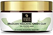 Good Vibes Oil Control Mask, Brazilian Volcanic Green Clay (50 g)