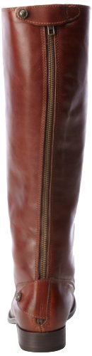 Frye Mellissa Button Back Zip, Bottes femme Cognac Smooth Vintage Leather-76431