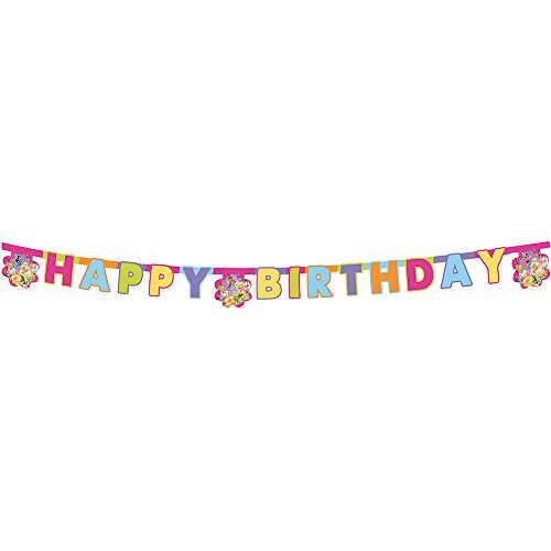 Festone in cartoncino happy birthday per feste a tema trilly fairies tinker bell
