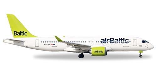 Herpa 562607 Fahrzeug airBaltic Bombardier CS300-YL-CSA