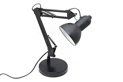 Arbeitsplatzleuchte Retro Leselampe Arbeitsplatzlampe Architektenlampe mit Gelenk aus Metall von Goods & Gadgets - Lampenhans.de