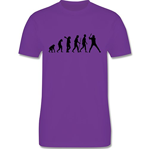 Evolution - Baseball Evolution - Herren Premium T-Shirt Lila