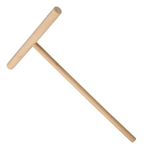 Preisvergleich Produktbild Busirde 2 Stück Holz T-förmige Küche Fry Gebäck Crepe Maker Leicht Pancake Werkzeug Batter Spachtel Schaber