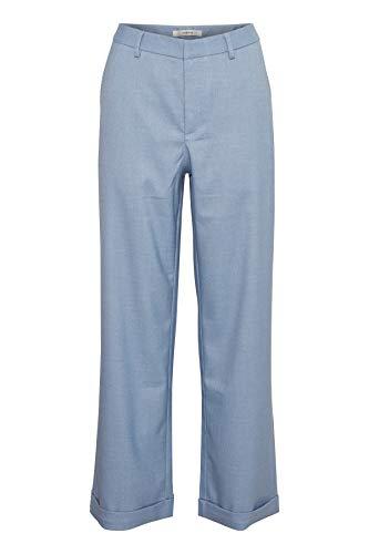 GESTUZ Damen Catta Pants Hose, Schwarz (Deep Well Stripe 90128), W26/L32 (Herstellergröße: 34)