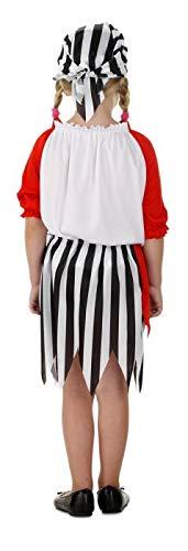 Pirate Girl Kostüm inklusive Rock, Pullover und Kopftuch für Mädchen - 2