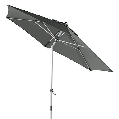 Doppler EXPERT Auto Tilt 280 - Knickbarer Sonnenschirm für Balkon oder Terrasse - Regenabweisend - ca. 280 cm - Anthrazit
