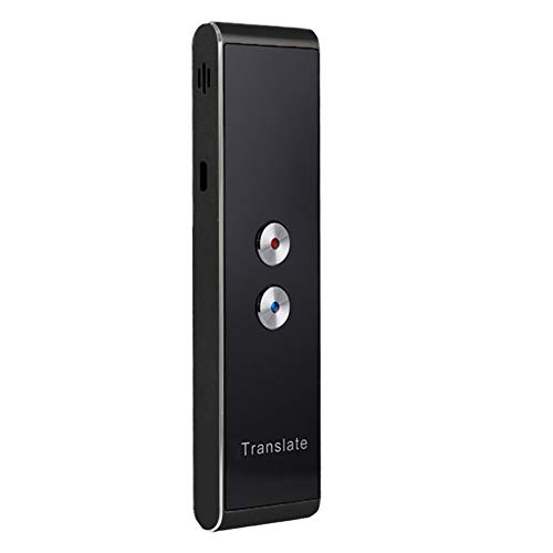 Translator 2-Way Instant Real-time Translate 30+ Languages Voice 2.4G Smart Pocket Speech/Text Intelligent Interpreter for Travel Learning Business Meet free size Nero