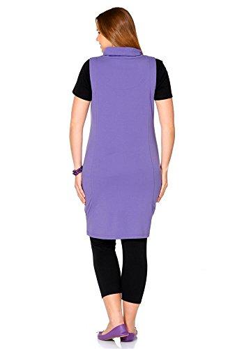 Sheego Damen-Kleid Kleid Violett Größe 42