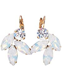 7e1203445f16ba Leaf Opal Swarovski Crystal Drop Earrings With CRYSTALLIZED Elements Bridal
