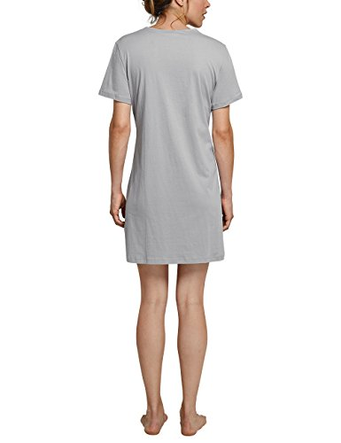 Schiesser Sleepshirt 1/2 Arm, 85cm, Chemise de Nuit / Nuisette Femme Grau (Hellgrau 204)