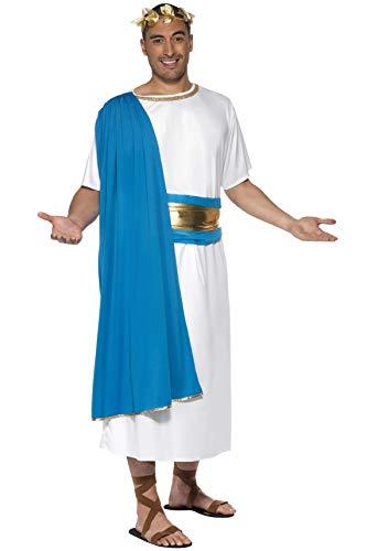 Smiffys Herren Römischer Senator Kostüm, Robe, Gürtel und Lorbeerkranz, Größe: M, 30644