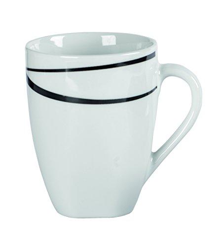 MÄSER Serie Oslo, Kaffeebecher, große Tassen im 6er-Set, Porzellan