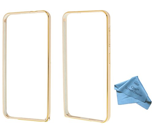 CZap Metal Ultra Thin Armor Bumper Case Side Cover for HTC Desire 616 - Gold