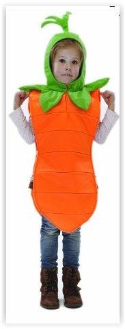 Imagen de kids  disfraz de zanahoria para niño, talla 3  5 años
