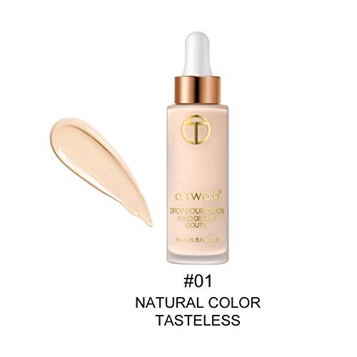 Fond de teint liquide Flawless Make Up Visage Base Correcteur Blanchissant Hydratant Eclaircissant Natural Coverage complet 15ml