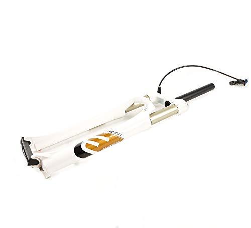 """LIDAUTO 26""""Bicicleta de montaña Tenedor de Aire Presión de Aire Amortiguador Aleación de Aluminio MTB Freno de Disco Control Remoto Ajustable,White"""