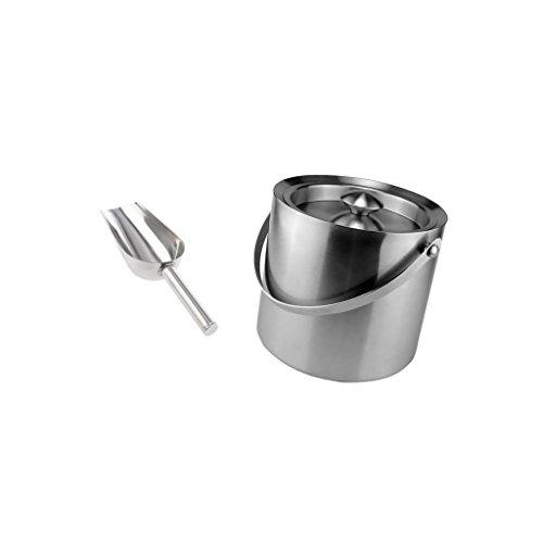 Sharplace Edelstahl Doppelwandige Isolierte Eis Eimer Weinkühler + Eisschaufel