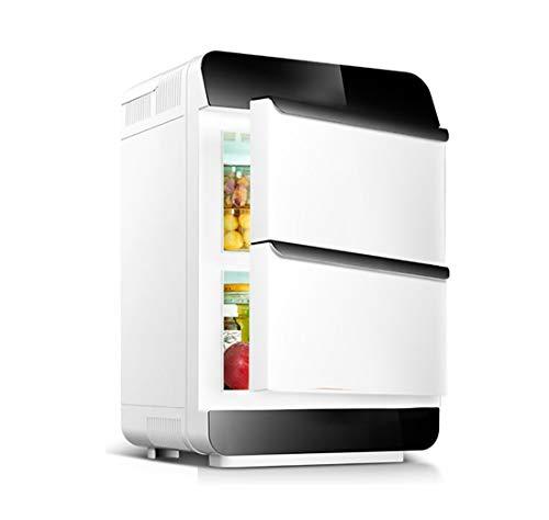Auto nach Hause Kleiner Kühlschrank mit kleinem Verwendungszweck, 28L große Kapazität tragbare Dual-Core-Doppeltür-Kühlanlage, ABS-Material ! (Color : White, Style : Mechanical) - Doppel-tür Kompakt Kühlschrank