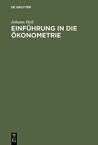 Einführung in die Ökonometrie by Johann Heil (2000-05-03)