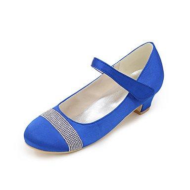 LIDOG Fille-Mariage / Soirée & Evénement-Bleu / Violet / Rouge / Ivoire / Blanc / Argent / Champagne-Talon Bas-Others-Chaussures à Talons-Soie champagne