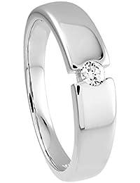Diamond Line Damen - Ring 375er Gold 1 Diamant ca. 0,12 ct., roségold