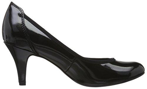 Marco Tozzi 22429, Chaussures à talons - Avant du pieds couvert femme Noir (Black 001)