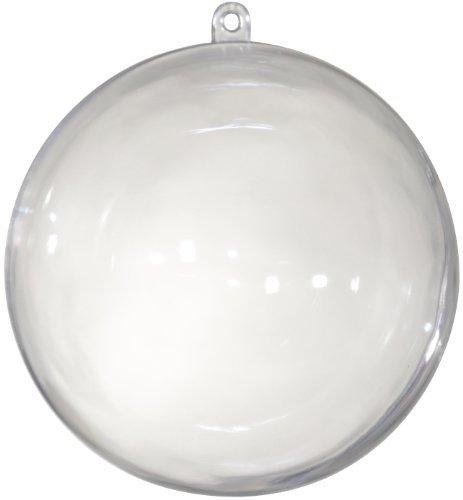 Kunststoff Kugel teilbar, transparent ca 160 mm. 1 Stück. (1 Kunststoff-kugeln)