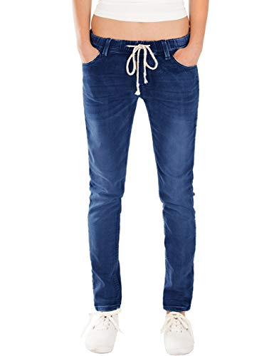 Fraternel Damen Jeans Hose Relaxed Loose fit Dunkelblau XS / 34 - W27
