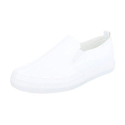 Sneakers Ital-design Basse Sneakers Da Donna Basse Scarpe Casual Moderne Bianche Kk-43