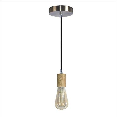 Suspensions Simple Européenne créative peinture bois pendentif lampes salon éclairage lustres