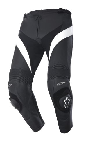 Alpinestars MISSILE LEATHER PANTS Größe 60, Farbe BLACK WHITE