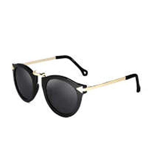who am i Europäische Und Amerikanische Retro UvSonnenbrille Metall Pfeil 2016 Weibliche Trend Sonnenbrille Runde Brille,Black