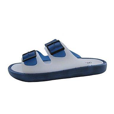 Slippers & amp da uomo;Comfort PU Primavera Casual Blu Verde Nero piatto, sandali Pool sandali Green
