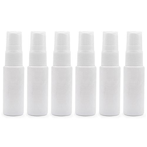 6 pcs Aspire Plastique Transparent Flacon pulvérisateur, portable Atomiseur pour Voyager, nettoyage, huiles essentielles, bain de bouche, Parfum (10Ml, 20 ml), sans BPA