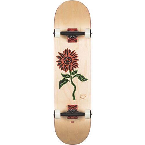 Globe G2 Bloom Skateboard, Unisex, Erwachsene, Weiß (Natur), 8.0
