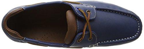 Chatham Pitt, Chaussures Bateau Homme Bleu (Navy/Tan)