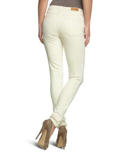 VERO MODA Damen Jeans 10090785 WONDER NW FOLD UP Skinny / Slim Fit (Röhre) Normaler Bund Elfenbein (OATMEAL)