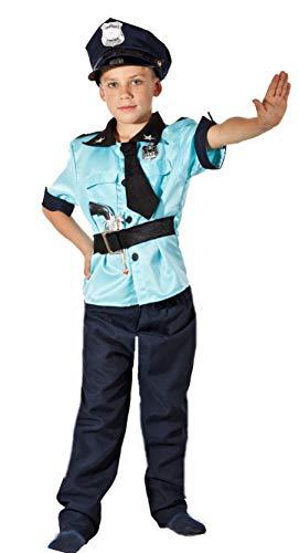 Magicoo 3-teiliges Polizei Kostüm Kinder Jungen - Faschingskostüm Polizist Kostüm Kinder (92/104) (Polizist Halloween Kostüm Kleinkind)