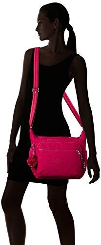 Kipling gabbie BP K22621E32 Damen Schultertaschen 36x30x19 cm Pink (Cherry Pink C)