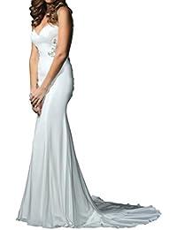 Toskana novia estilo completo sirena Vestidos de novia largo gasa Princesa Boda Novia Mode