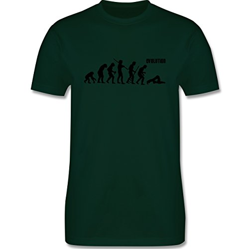 Evolution - Pilates Evolution - Herren Premium T-Shirt Dunkelgrün